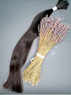 Неокрашенные славянские волосы 70 см в срезе