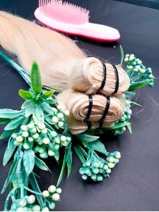 Окрашенные славянские волосы 50 см на трессе