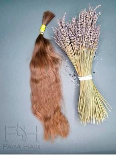 Окрашенные славянские волосы 60 см в срезе