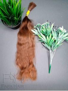 Окрашенные славянские волосы 70 см в срезе
