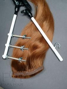 Окрашенные славянские волосы 80 см на трессе