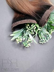 Неокрашенные южно-русские волосы 50 см на трессе