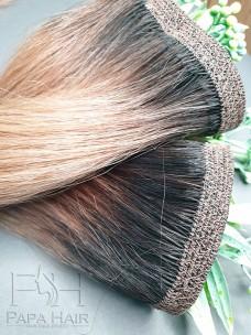 Неокрашенные южно-русские волосы 80 см на трессе