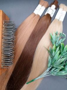 Окрашенные южно-русские волосы 80 см в срезе